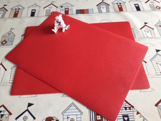 Red Place Mat 30cm x 43cm ( sold in pairs)
