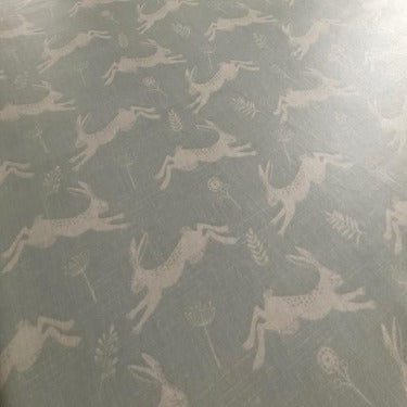 Country Jumping Hares 130cm Wipe Clean PVC Tablecloth
