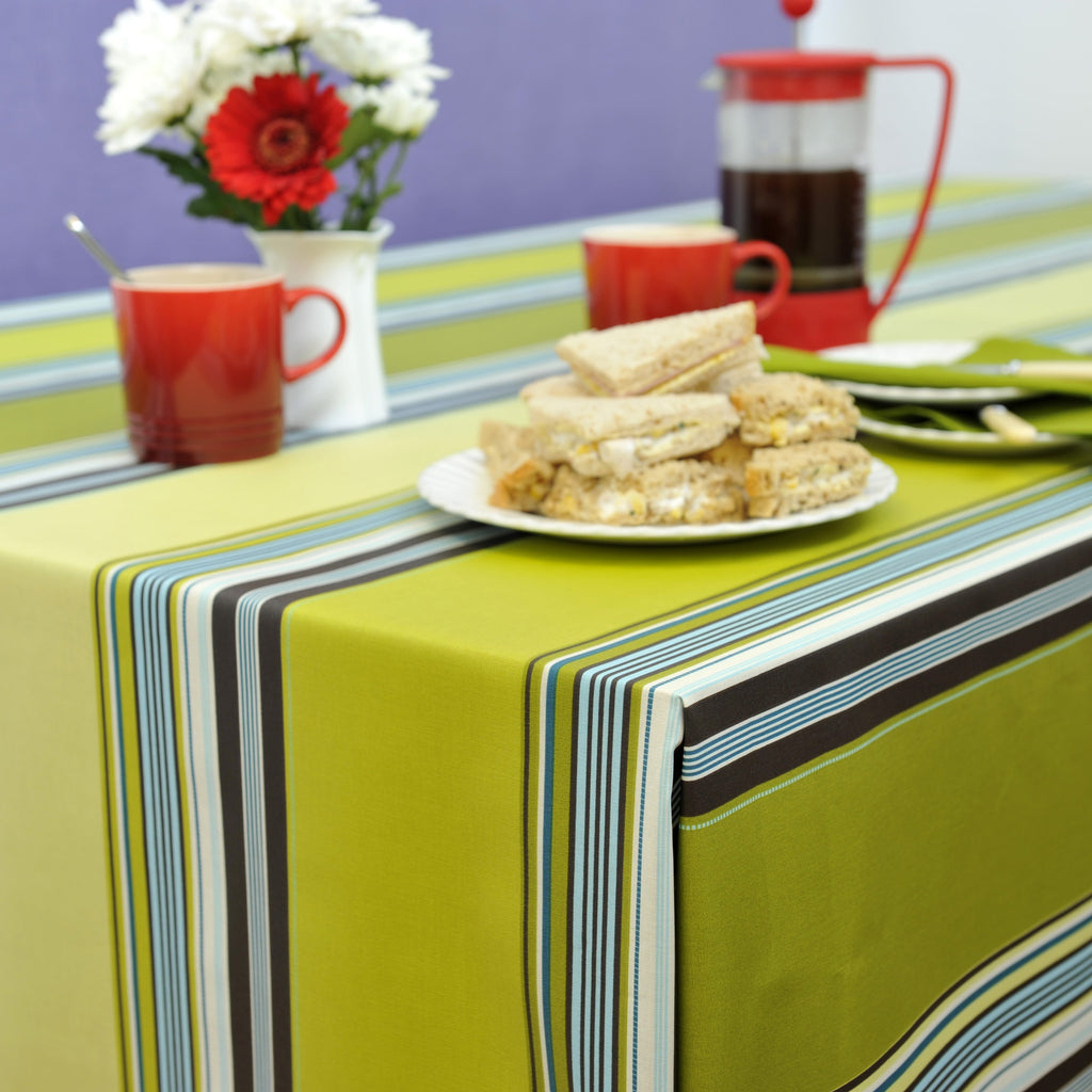 Le Touquet Vert 155cm Wipe clean Acrylic Tablecloth