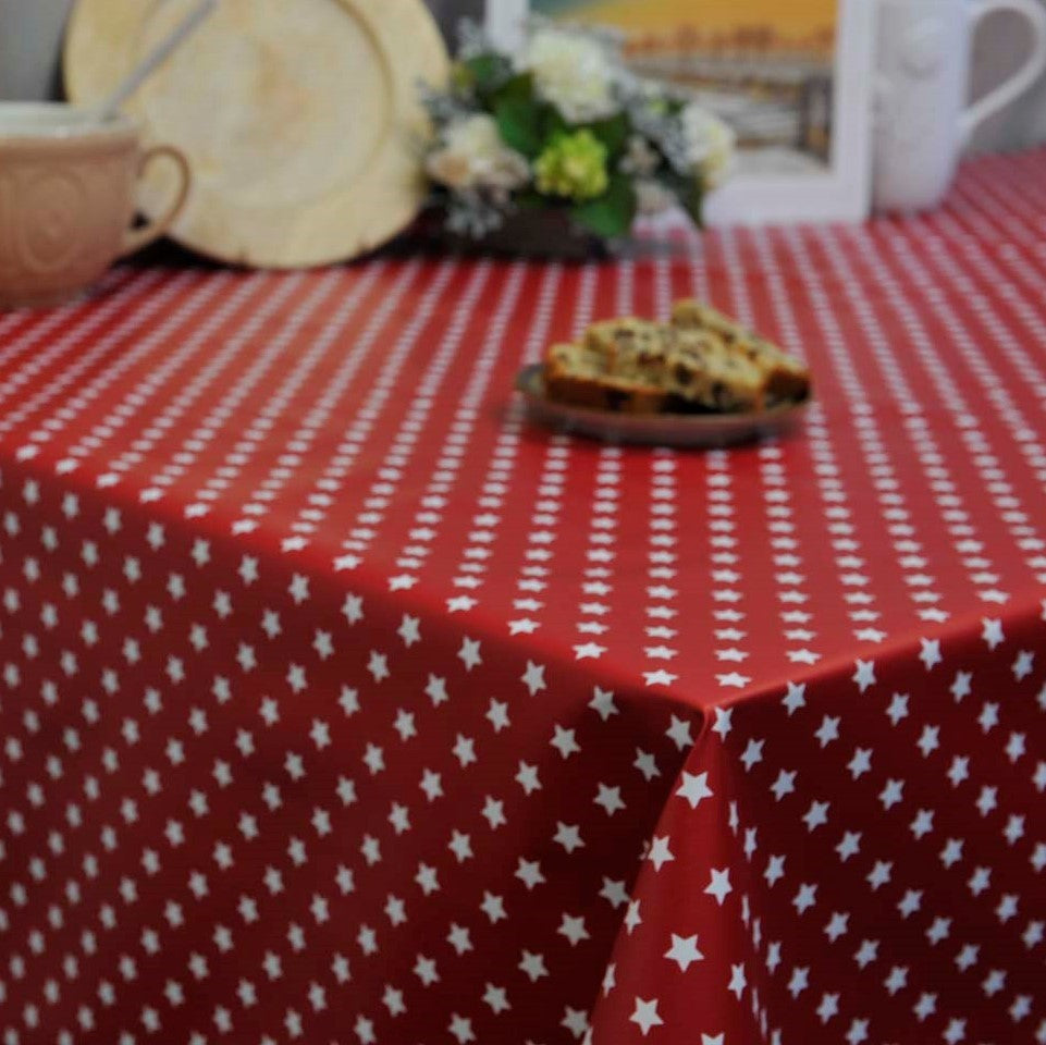Star Bright Vinyl 140cm Wipe clean Vinyl Tablecloth