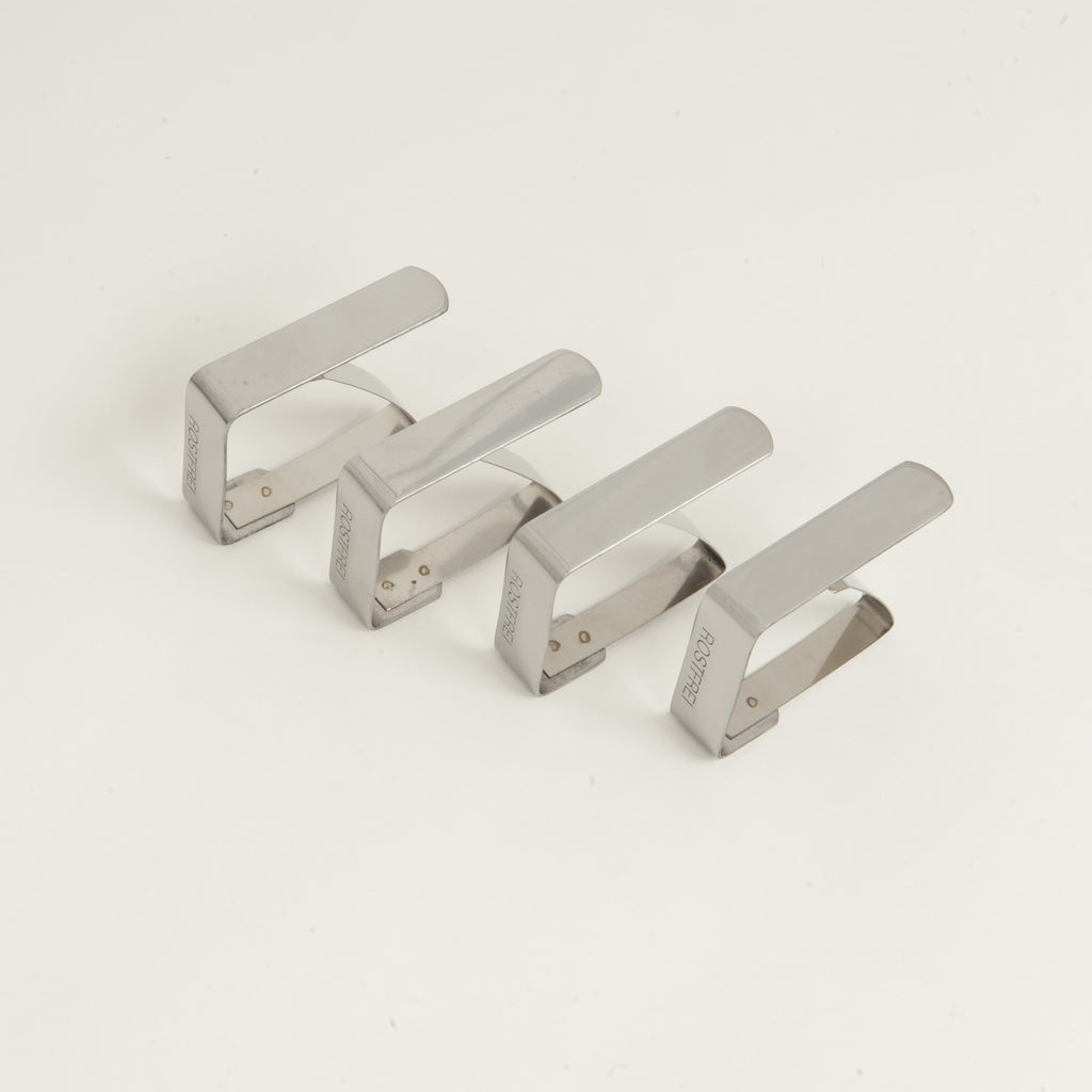 Stainless Steel Tablecloth Clips (4-pack)