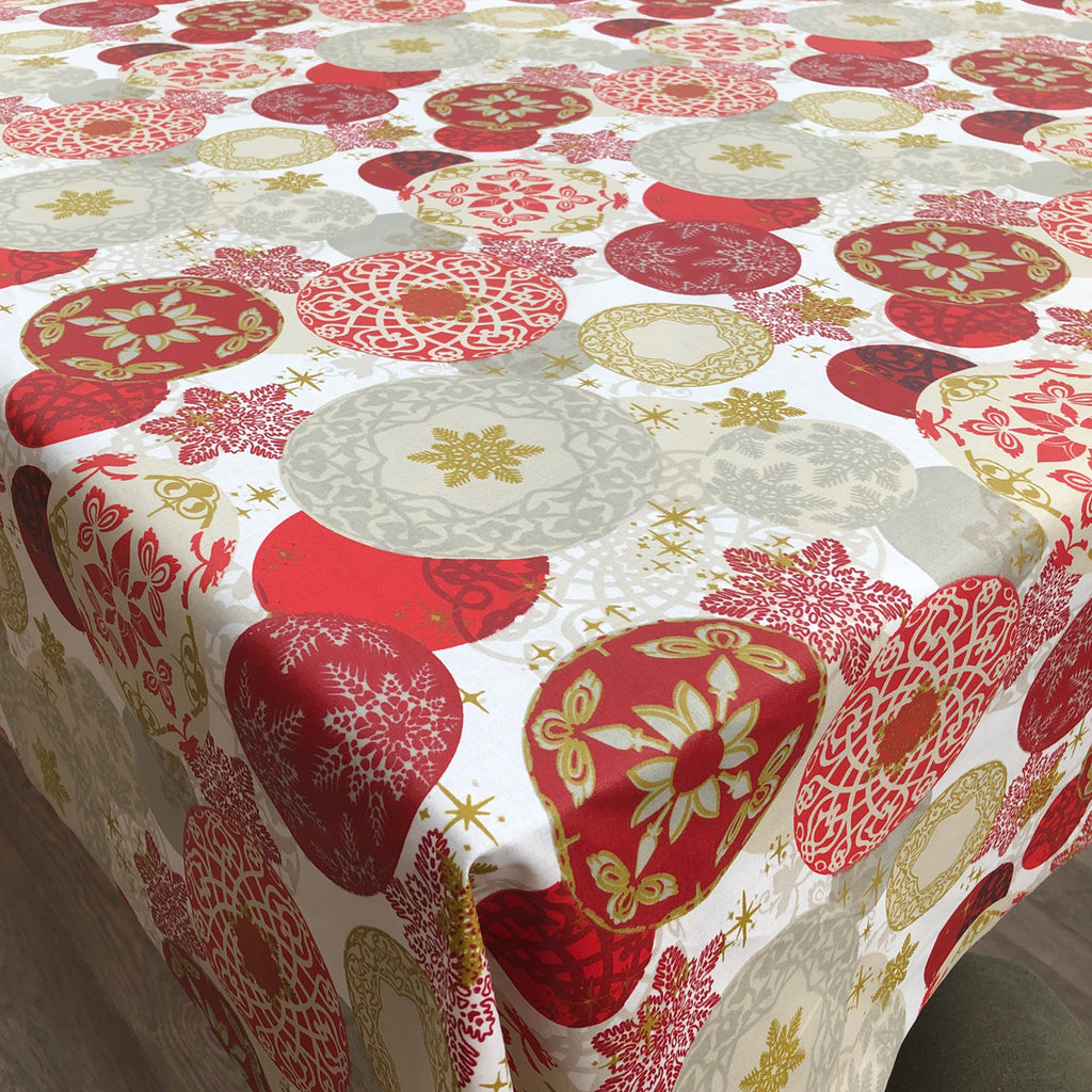 Oriental Christmas 155cm Wipe clean Acrylic Tablecloth