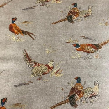 Country Pheasants 130cm Wipe Clean PVC Tablecloth