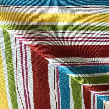 Multi Stripe140cm Wipe clean Acrylic Tablecloth