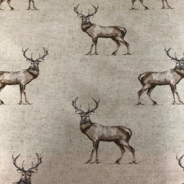Country Stags 130cm Wipe clean Matt PVC Tablecloth