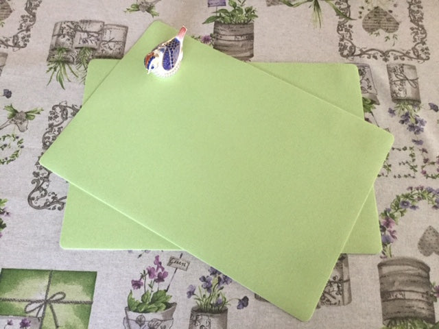 Pale Green  Place Mat 30cm x 43cm ( sold in pairs)
