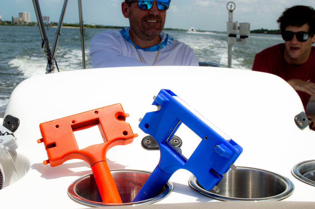 Boat Gadget in cupholder on boat