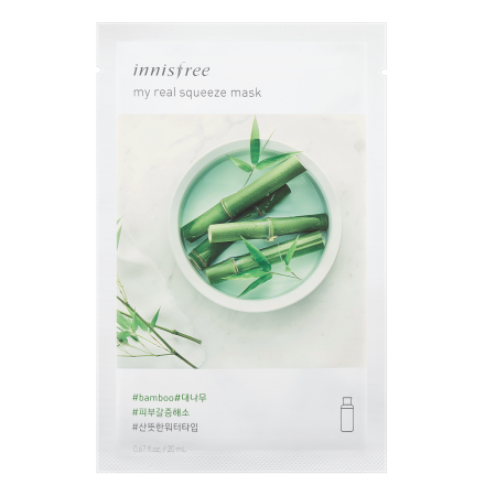 Innisfree My Real Squeeze Mask - Bamboo - Philosophy Glow