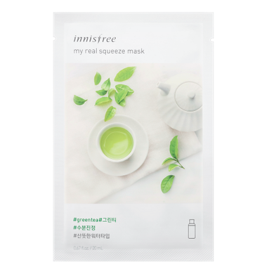 Innisfree My Real Squeeze Mask - Green Tea - Philosophy Glow