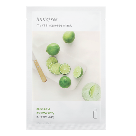 Innisfree My Real Squeeze Mask - Lime - Philosophy Glow