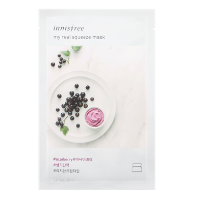 Innisfree My Real Squeeze Mask - Acai Berry - Philosophy Glow