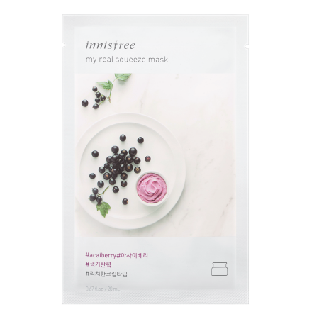 Innisfree My Real Squeeze Mask - Acai Berry