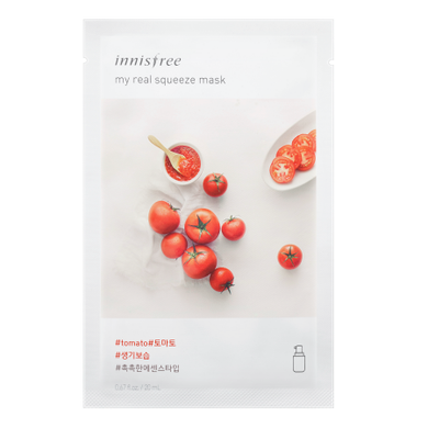 Innisfree My Real Squeeze Mask - Tomato - Philosophy Glow
