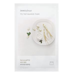 Innisfree My Real Squeeze Mask - Ginseng - Philosophy Glow