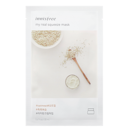 Innisfree My Real Squeeze Mask - Oatmeal - Philosophy Glow