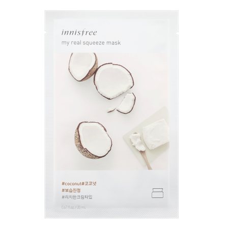 Innisfree My Real Squeeze Mask - Coconut - Philosophy Glow