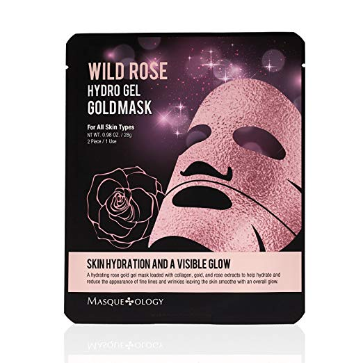 MASQUEOLOGY Wild Rose Hydro Gel Gold Mask - Philosophy Glow