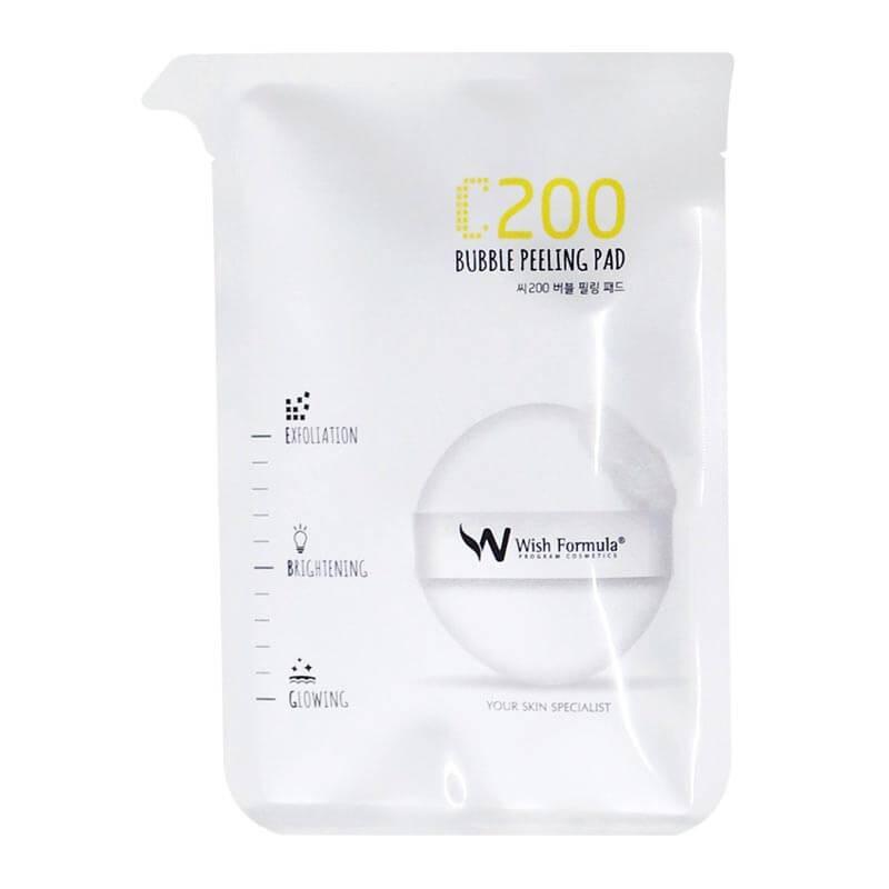 WISH FORMULA  C200 Bubble Peeling Pad (for face)