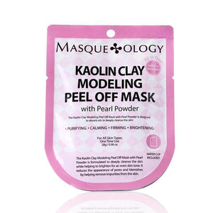MASQUEOLOGY Kaolin Clay Modeling Peel Off Mask with Pearl Powder