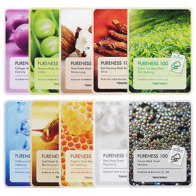 TONYMOLY Pureness 100 Mask Sheet - Assorted