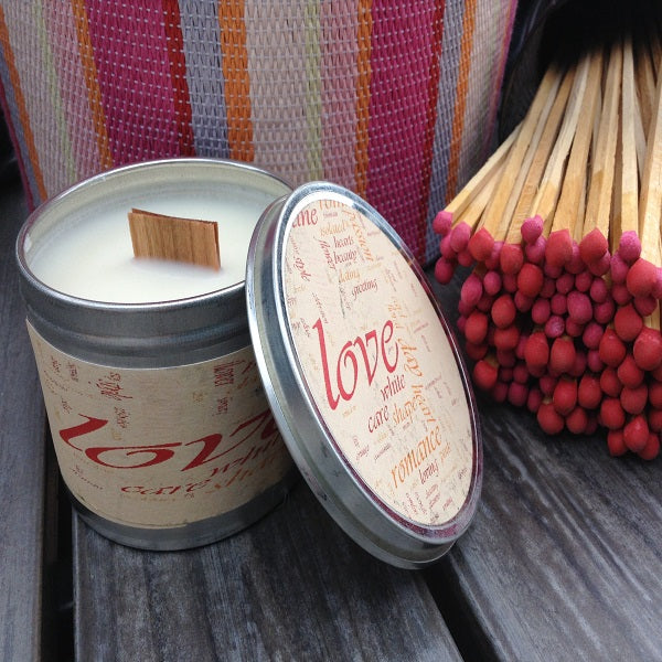 Love Spell Wood Wick Candle   Wholesale Candles   Soy Candle