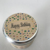 Happy Birthday Message Candle