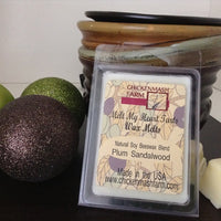 plum sandalwood wax melt
