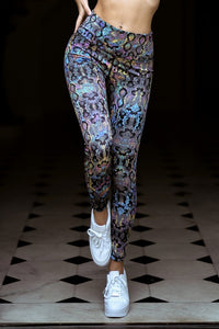 Snakeskin Print Athletic Leggings