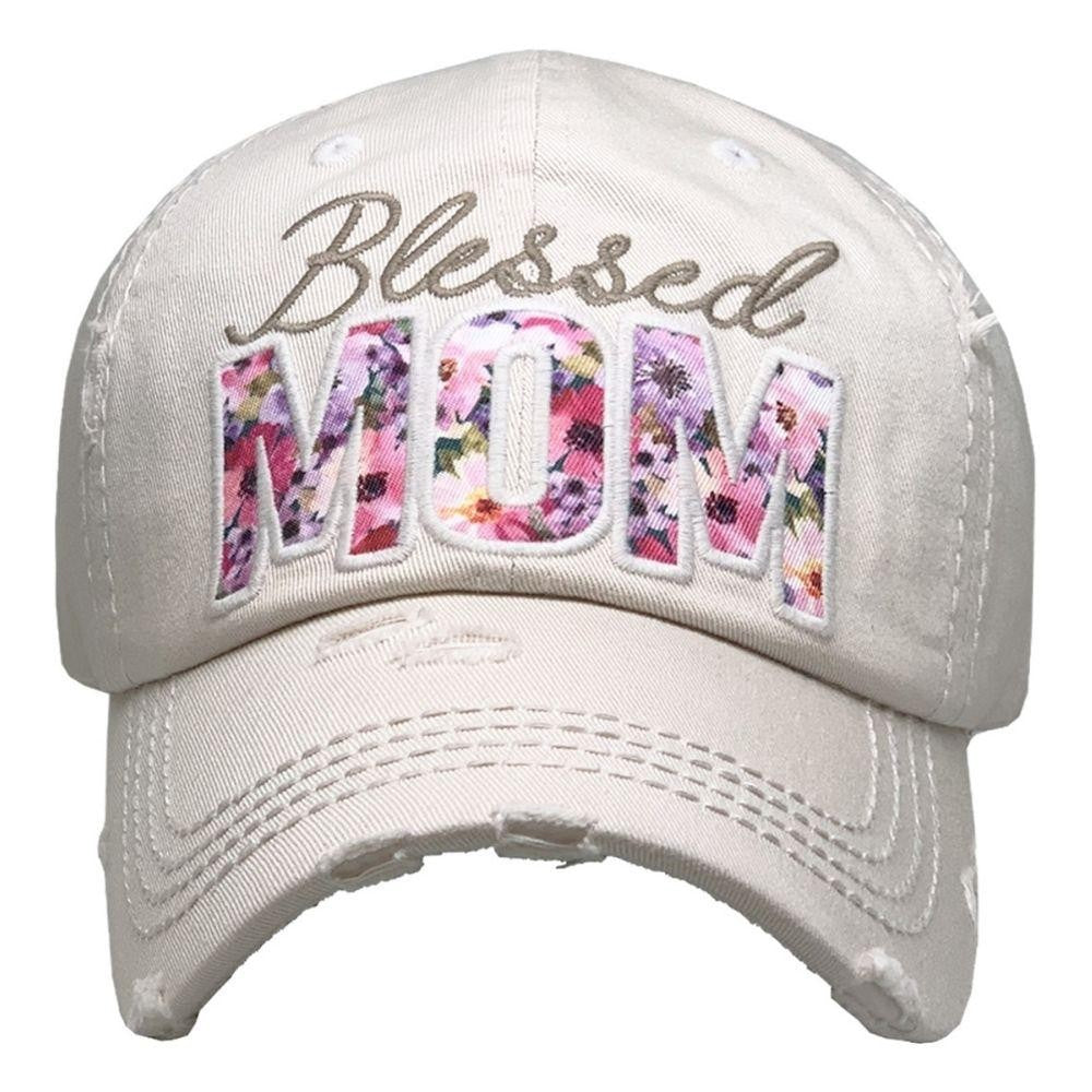 BLESSED MOM HAT - WHITE