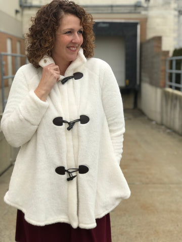 Plush Fleece Jacket with Toggle Buttons
