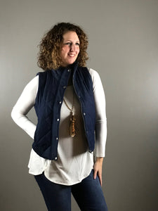 Denim Quilted Vest
