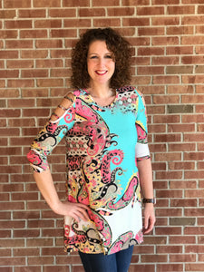 Paisley Braid Sleeve Tunic