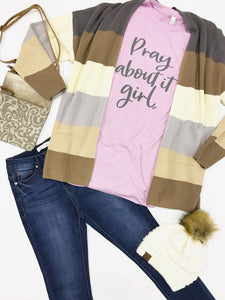 PRAY ABOUT IT GIRL Graphic Tee