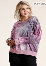 Load image into Gallery viewer, Tie Dye Raw Edge Curvy Sweatshirt