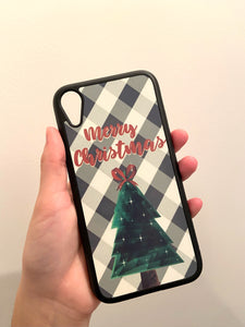 MERRY CHRISTMAS PLAID iPhone Case