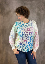 Load image into Gallery viewer, Ombre Rainbow Leopard Sweater