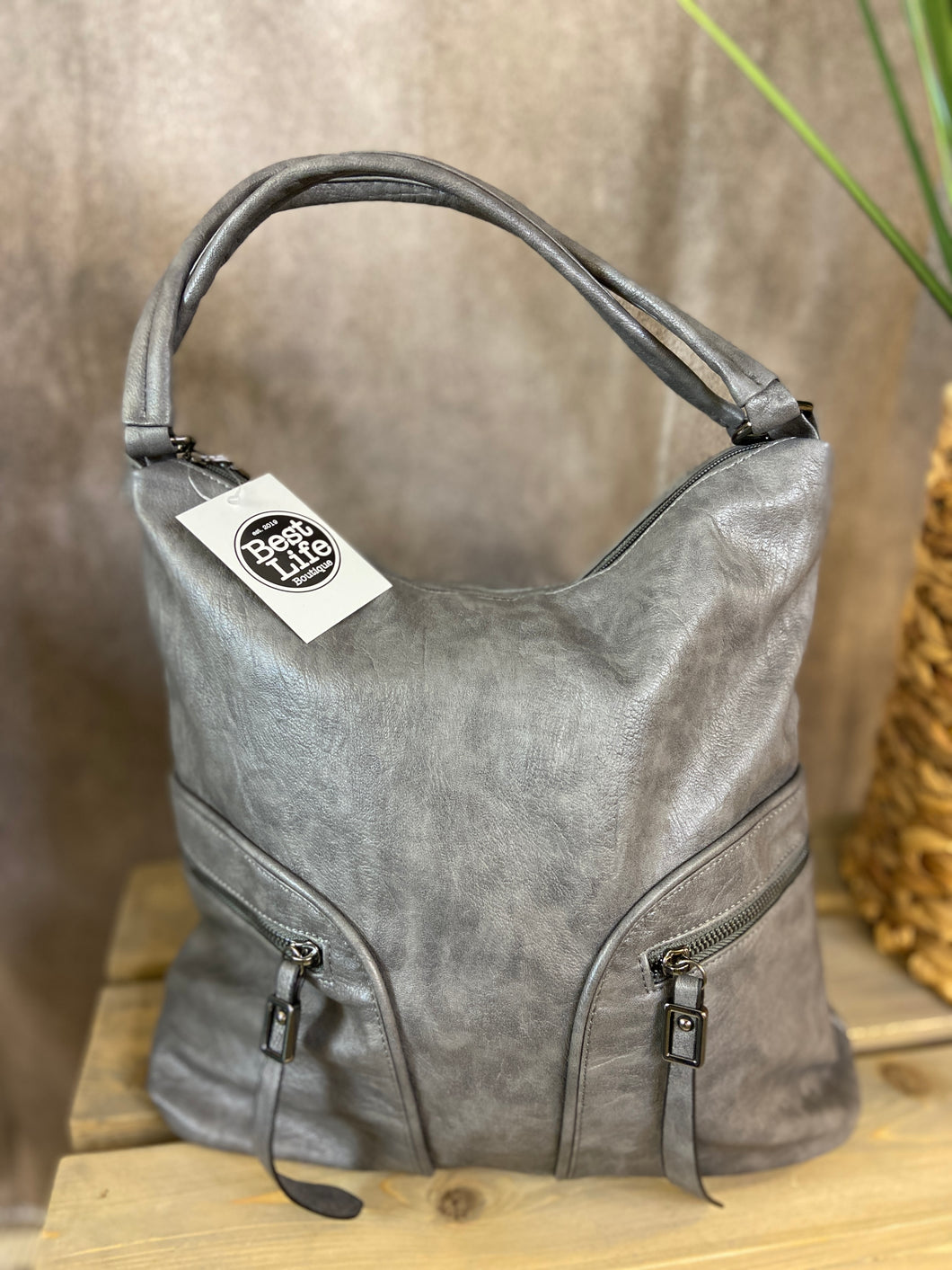 Double Zip Pocket Hobo