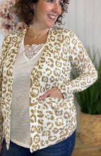 Load image into Gallery viewer, Lightweight Leopard Button Front Cardigan