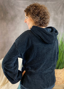 Soft Sherpa Pullover - Black