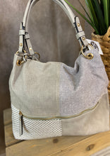 Load image into Gallery viewer, Patchwork Hobo Bag - GRAY