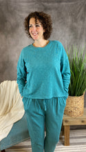 Load image into Gallery viewer, Cotton Drop Shoulder Lounge Set - Dusty Teal