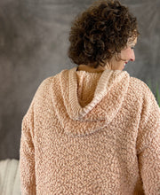 Load image into Gallery viewer, Hooded Popcorn Sweater - Light Peach