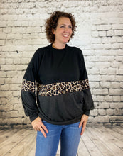 Load image into Gallery viewer, Brushed Soft Leopard Stripe Top