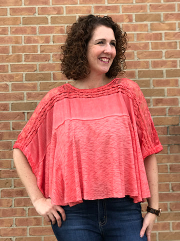Crochet and Lace Dolman Top