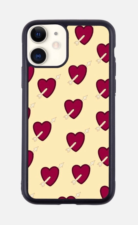 HEARTS AND ARROWS YELLOW iPhone Case