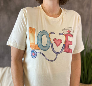 LOVE NURSE Graphic Tee