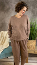 Load image into Gallery viewer, Cotton Drop Shoulder Lounge Set - MOCHA