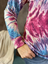 Load image into Gallery viewer, Bright Pullover Tie Dye Top - Magenta