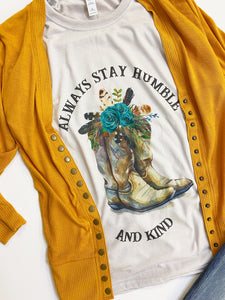 HUMBLE AND KIND BOOTS Graphic Tee