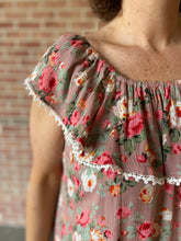 Load image into Gallery viewer, Floral Ruffle Top Off the Shoulder Dress